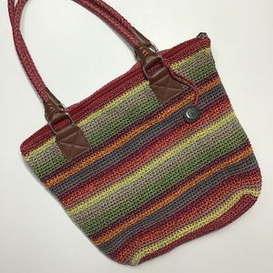 the sak | Colorful Striped Crocheted Bag